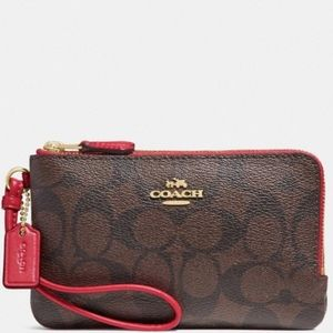 ✅Coach Double Zip Wristlet ✅ New With Tags❗✅